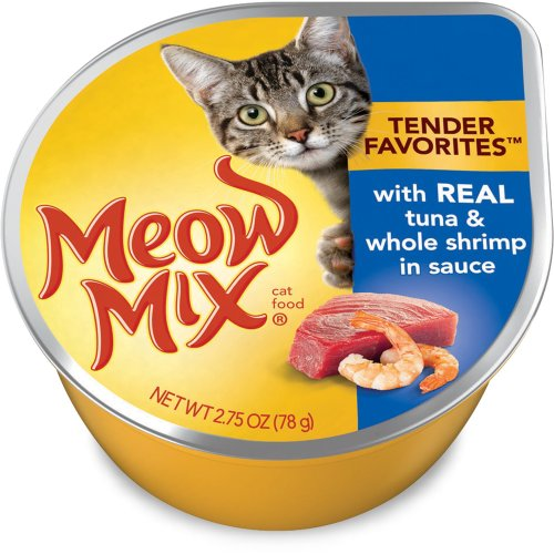 Meow Mix Tender Favorites Real Tuna & Whole Shrimp in Sauce