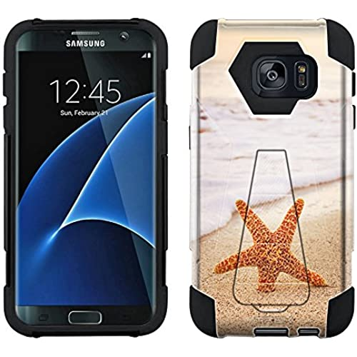 Samsung Galaxy S7 Edge Hybrid Case Starfish on the Beach 2 Piece Style Silicone Case Cover with Stand for Samsung Sales