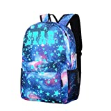 Creazy Galaxy School Travel Hiking Bag Backpack Collection Canvas For Teen Girls Kids
