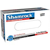 Shamrock Latex Disposable Gloves Powder-Free Textured (Case of 1000) 20 X 32 - Green