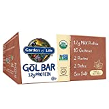 Garden of Life Organic GOL Bars – Chewy High Protein Whole Food Bar – Maple Sea Salt (12 per Carton) | Certified Organic, Non-GMO & Gluten Free, No Gluten, No Added Sugar – 12g Milk Protein