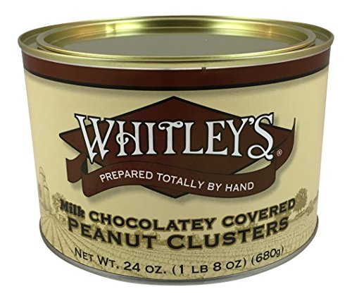 Whitley's Milk Chocolatey Covered Peanut Clusters 24 Oz. (Chocolate Virginia)
