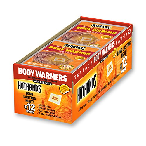 HotHands Body Warmers With Adhesive - Long Lasting Safe Natural Odorless Air Activated Warmers - Up to 12 Hours of Heat - 40 Individual Warmers by HotHands
