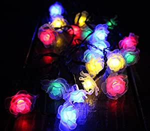 Cara 30 LED Solar Powered LED Christmas String Lights Rose Party Decoration Multi-color