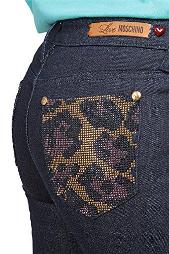 Donna Tretti Moschino Jeans Blu Scuro Love gOfwAtqO
