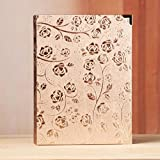 LJ&L Artificial Leather Cover Frame Interstitial Photo Album, 200 Pockets Hold 6inch Photo, Family Record Child Growth Album,E