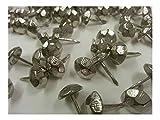 NICKEL Hammered Upholstery Nails Tacks Decorative NAIL 100-200-500-1000 (1000)