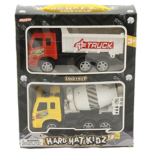 2 PC Cement Truck / Dump Truck Combo Toys for Children - Wholesale Toys - Case of 48 by David's Wholesale