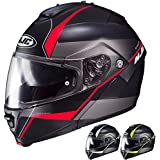 HJC IS-MAX II Mine - Modular Flip-Up Full-Face Motorcycle Helmet - Black/Silver - Large