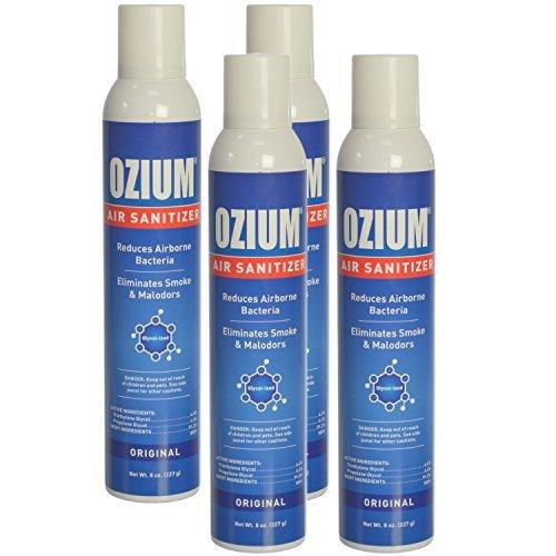 Ozium Air Sanitizer Reduces Airborne Bacteria Eliminates Smoke & Malodors 8oz Spray Air Freshener, Original (4-Pack)