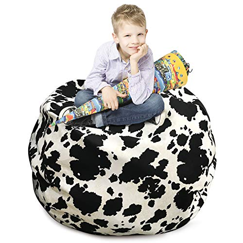 - CALA LIFE Bean Bag Storage Chair,Comfy Chair Cover Perfect for Storing Stuffed Animals,Toy Organizers and Storage Kids, Teens and Adults,100% Cotton Premium Canvas(38