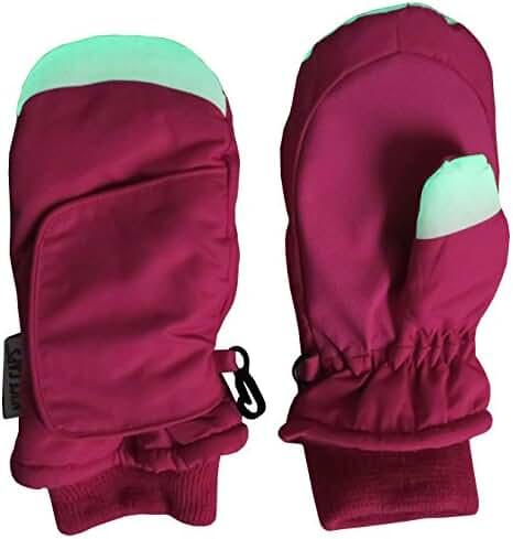 N'Ice Caps Kids Easy On Velcro Wrap Waterproof Thinsulate Winter Snow Mitten