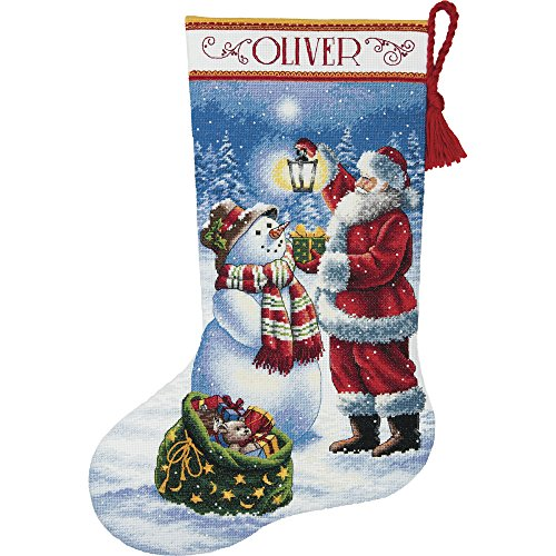 Dimensions Needlecrafts Dimensions Holiday Glow Stocking Counted Cross Stitch Kit, 70-08952