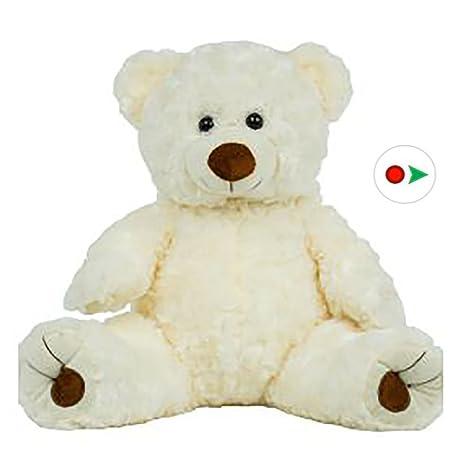 1ea0e67dab2 Amazon.com  Stuffems Toy Shop Record Your Own Plush 16 inch White ...