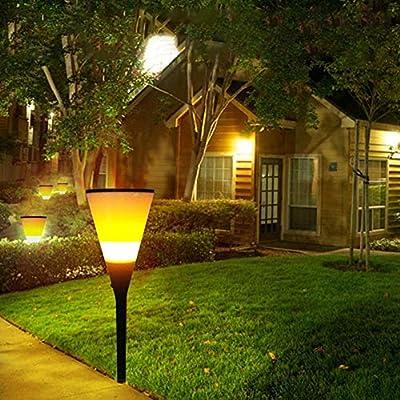 Adminitto88 antorcha Solar jardín luz lámpara de 96 LED Decorativa con Fuego Impermeable Resistente Calor Eclairage Exterieur Decoration para jardín canaleta Yard Patio Deck Navidad Boda Fiesta: Amazon.es: Hogar