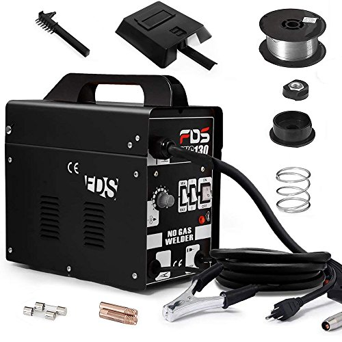 Goplus MIG 130 Welder AC Flux Core Wire Automatic Feed Welder Welding Machine w/Free Mask Commercial (Black) ()