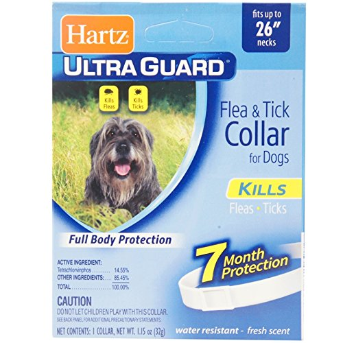 "2 Packs, 26"", White Flea & Tick Large Dog Collar Pack of 2"