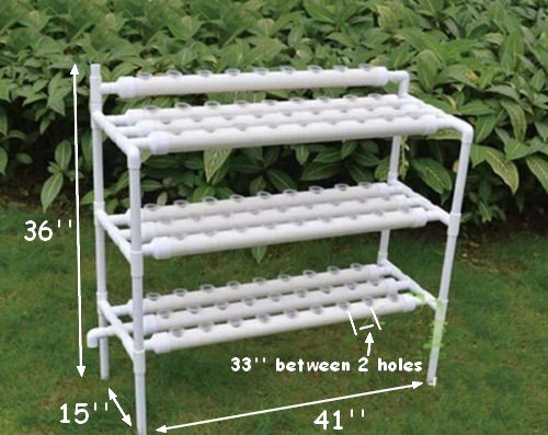 51xxwS87c3L - Hydroponic Site Grow Kit 90 Site Ebb and Flow Deep Water Culture Garden System with Nest Basket, Water Pump and Sponge(Item#141095) …