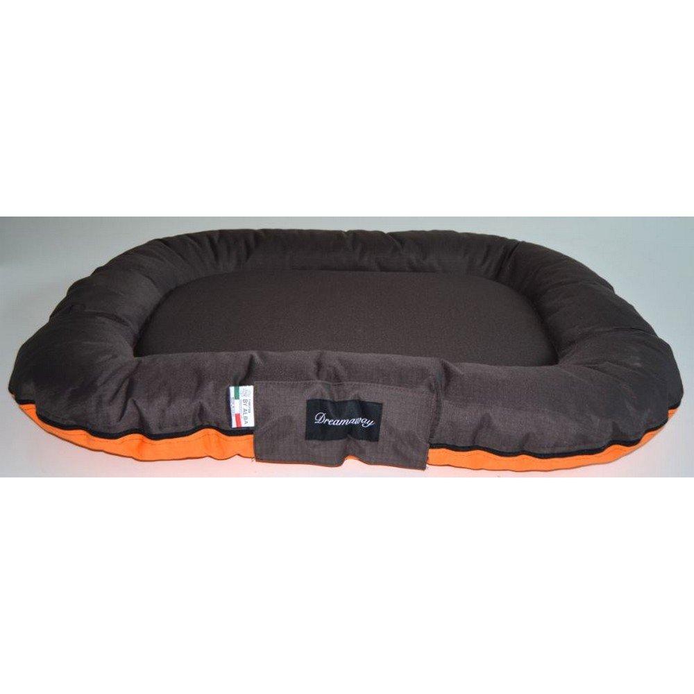 Fabotex Dreamaway Boston Materassino Arancione/Marrone XL: 140X110X20 cm