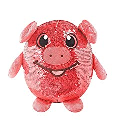 "8"" Polly Pig, Red Sequin Plush Stuffed Animal"
