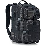 Military Tactical Backpack Small Assault Pack Army Molle Bug Out Bag Backpacks School Rucksack Daypack Black Camo