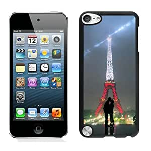 iPod Touch 5 Case,2015 Hot New Fashion Stylish torre eiffel tumblr love Black Case Cover for iPod Touch 5
