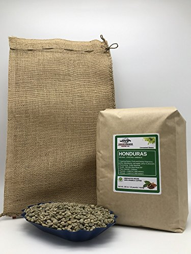 10 LBS – HONDURAS SAN ANTONIO (includes a FREE BURLAP BAG) Specialty-Grade, CURRENT-CROP Green Unroasted Coffee Beans – 100% Organic, Arabica Shade-Grown, Hand-Picked, Process: Washed & Sundried