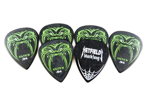 Dunlop PH112P.94 Hetfield Black Fang, .94mm, 6/Player's Pack (Metallica Pick For Guitar)