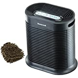 Honeywell HPA100 Filter Prefilter True HEPA Allergen Remover 155 Sq. Ft Air Purifier, Carbon Filters (Complete Set) w/ Bonus: Premium Microfiber Cleaner Bundle