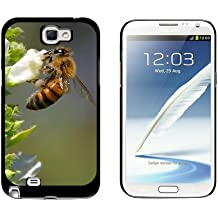 Graphics and More Bee On Flower - Snap On Hard Protective Case for Samsung Galaxy Note II 2 - Black