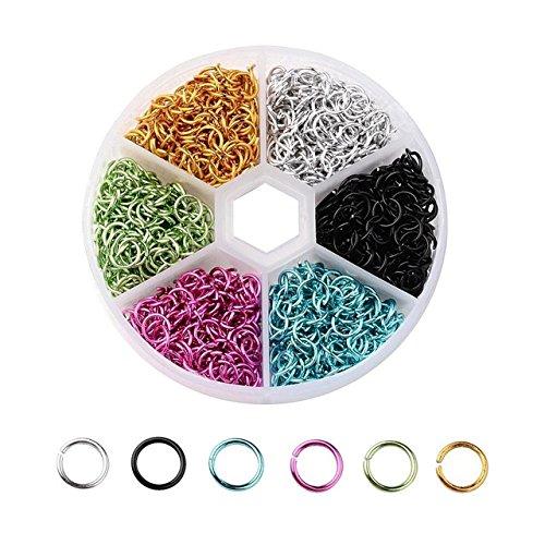 25cab2606821 60%OFF 1.080 unds anillas arandelas 6 colores para bisuteria 6 mm ...
