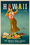 Pan Am - Hawaii Vintage Poster (artist: Atherton) USA c. 1948 (9x12 Art Print, Wall Decor Travel Poster)