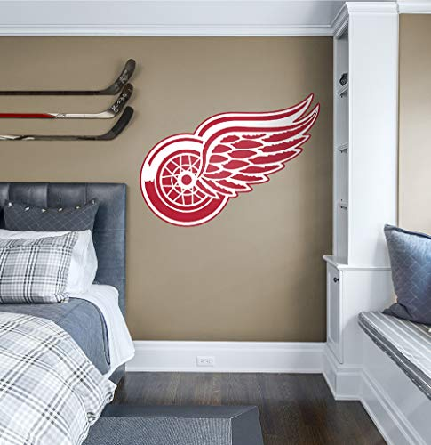 Fathead NHL Detroit Red Wings Detroit Red Wings: Logo - Giant Officially Licensed NHL Removable Wall Decal