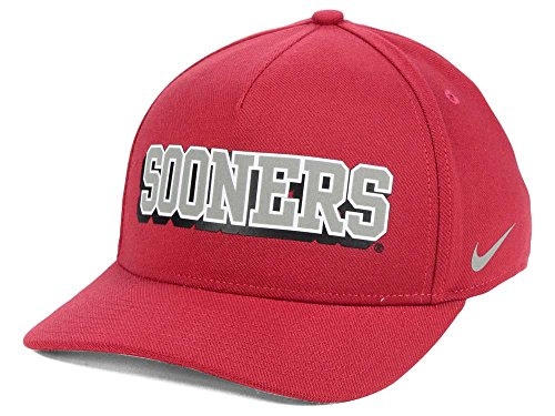 NIKE Oklahoma Sooners NCAA Local DNA Verbiage Swoosh Flex Cap Hat One Size