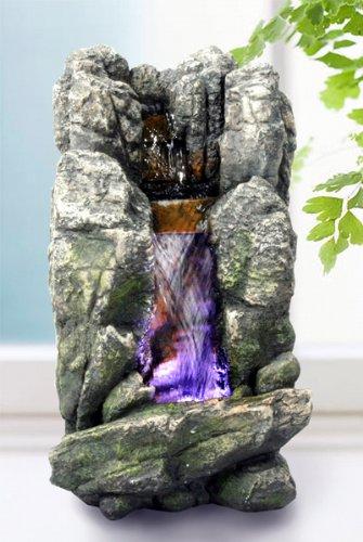 Amazon.de: Brunnen Zimmerbrunnen mit LED Luftbefeuchtung Deko ...