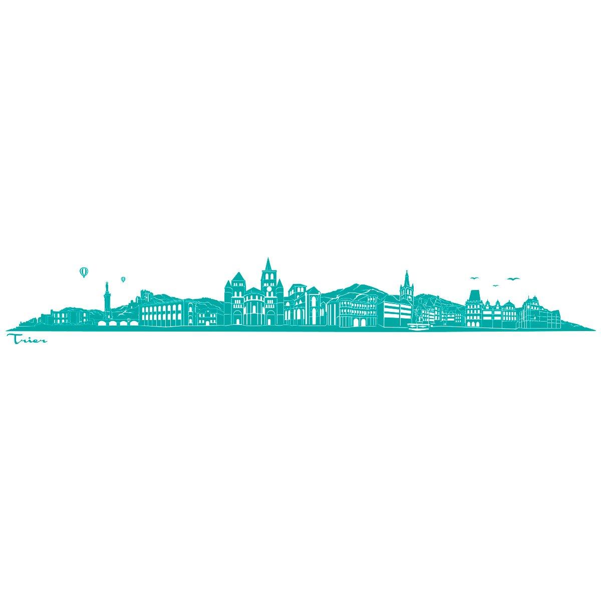 WANDKINGS Wandtattoo - Skyline Trier (ohne Fluss) Fluss) Fluss) - 240 x 36 cm - Schwarz - Wähle aus 6 Größen & 35 Farben B078SH5VVK Wandtattoos & Wandbilder 11714e