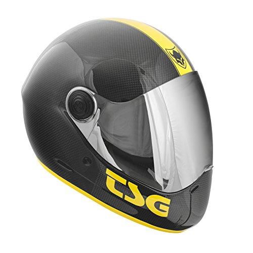 TSG - Pass Pro Carbon Graphic Design (+ Bonus Visor) - Helmet for Skate (trace, XL 60-61 cm)