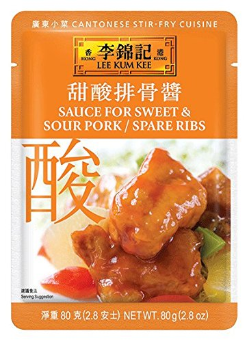 Sweet Sour Spare Ribs - Lee Kum Kee Sauce For Sweet and Sour Pork Spare/Ribs, 2.8-Ounce Pouches (Pack of 12)