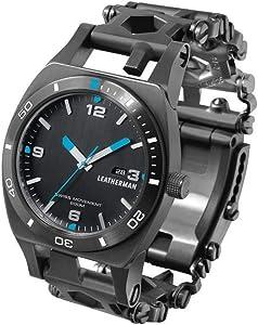 LEATHERMAN, Tread Tempo Watch, Customizable Multitool Timepiece, Black