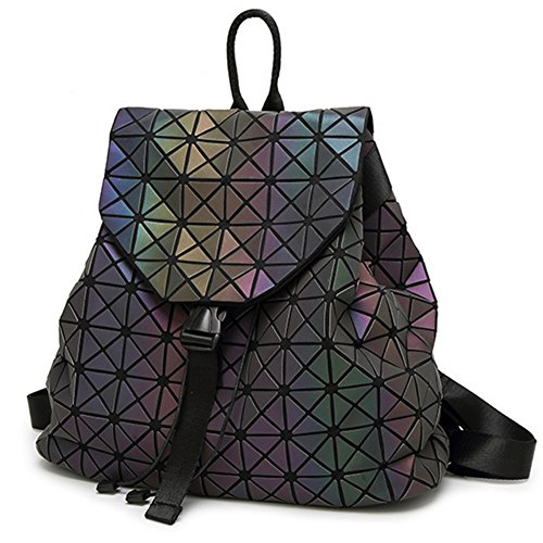 Geometric Lattice Backpack Travel School Bag Drawstring Rucksack for Women Biker Teens - In Magazine A Sunglasses The Lady