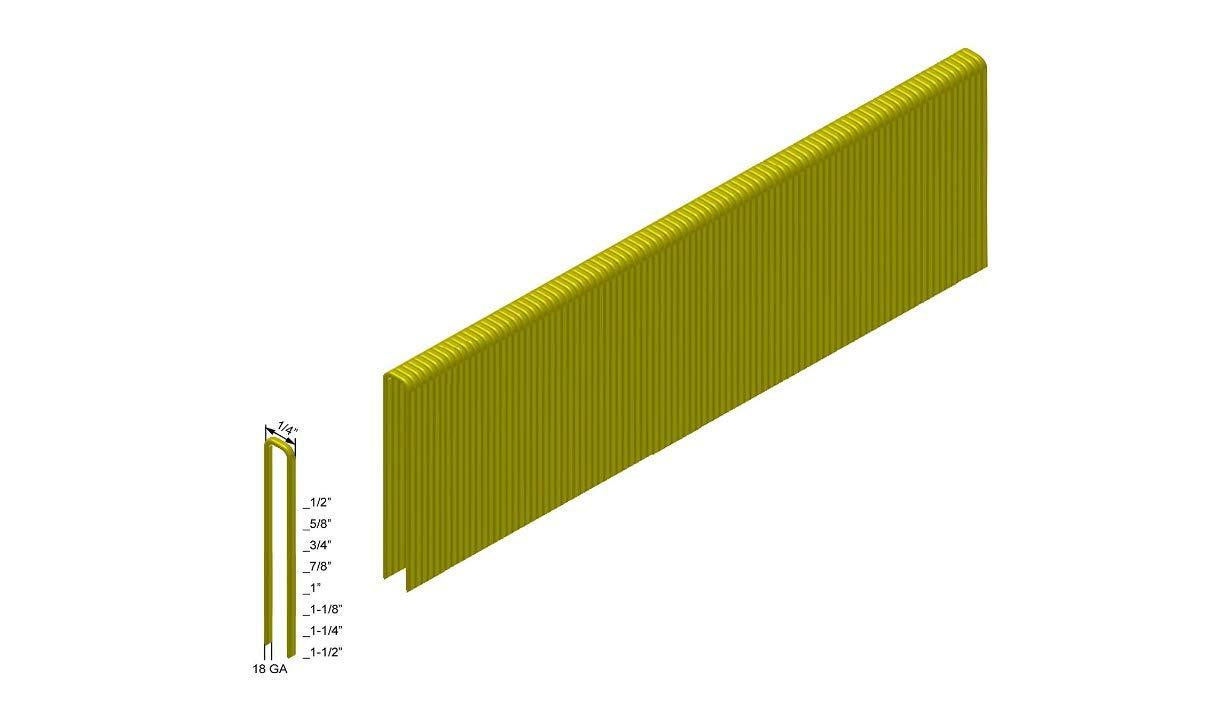 480 Boxes 5,000-Pack Senco L Style Staples Pallet of PREBENA 18GA 1//4 Crown x 1 Length Galv