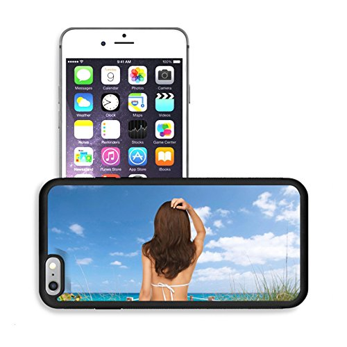 Luxlady Premium Apple iPhone 6 Plus iPhone 6S Plus Aluminum Backplate Bumper Snap Case IMAGE 25628113 summer holidays and vacation concept beautiful woman posing in white bikini