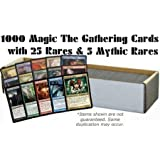 1000 Magic the Gathering Cards with 25 Rares & 5 Mythic Rares (MTG) - All Magic: the Gathering Lots