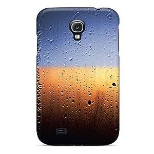 Mwaerke Premium Protective Hard Case For Galaxy S4- Nice Design - Window Rain