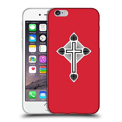 GoGoMobile Coque de Protection TPU Silicone Case pour // Q09370601 Croix chrétienne 47 Alizarine // Apple iPhone 6 PLUS 5.5""