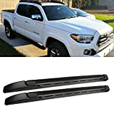 oem roof racks tacoma 2007 - Audrfi 1 Pair Black Aluminum Roof Rack for 05-15 Tacoma Double/Crew Cab Top Side Rail Cargo Carries