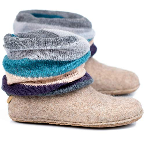 BureBure Wool Ankle Boots with Knitted Leg Warmers for sale  Delivered anywhere in USA