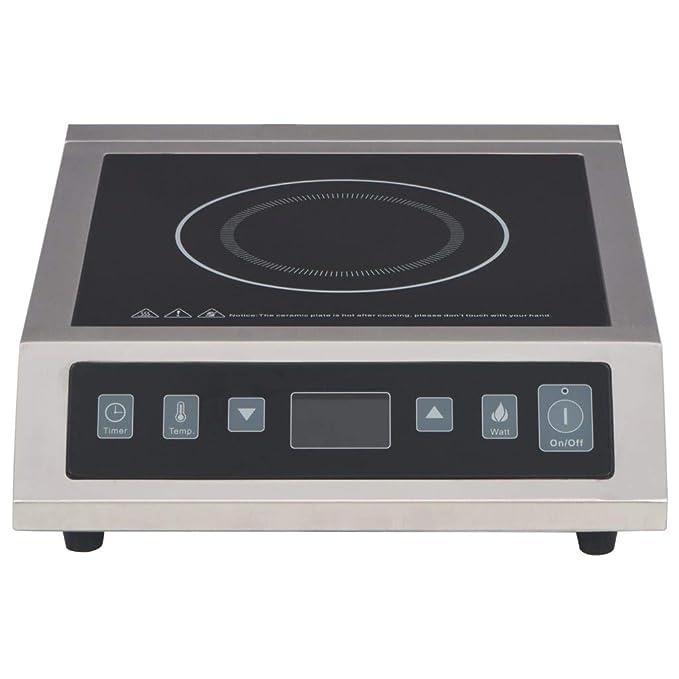 vidaXL - Cocina de inducción eléctrica con Pantalla táctil ...