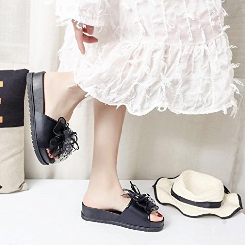 Inkach Women Platform Sandalen - Fashion Dames Zomer Sandalen Badslippers Casual Beach Wedge Schoenen Zwart