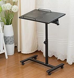 Amazon Com Unicoo Height Adjustable Laptop Cart Laptop